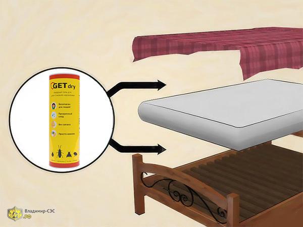 как уничтожить клопов в подушках