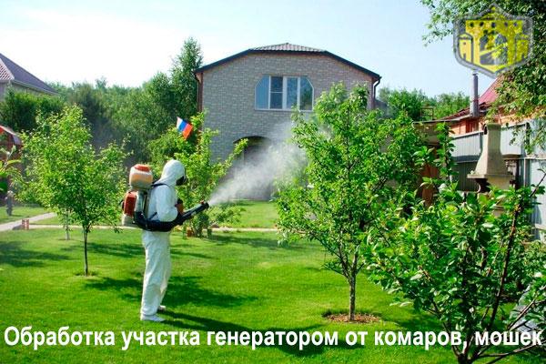 заказать уничтожение комаров на участке