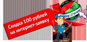 скидка 100 рублей