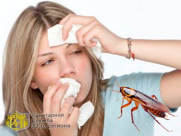 аллергическая реакция на тараканов