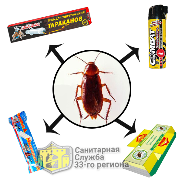 средства от тараканов в квартире